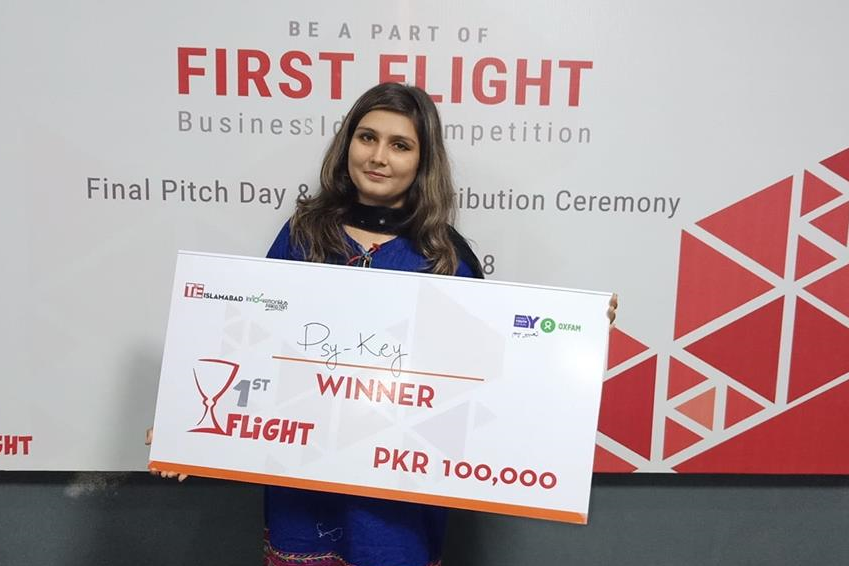 RETO's incubatee, PsyKey Online, stood winner in First Flight competition by TiE Islamabad